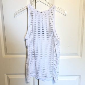 Lorna Jane White Tank Top Medium Mystique Laser